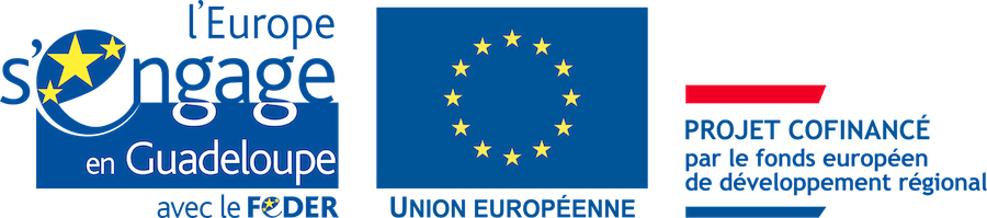 Logo L'Europe s'engage en Guadeloupe avec le Feder.